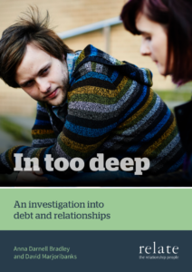 In too deep - An investigation into debt and relationships FRONT COVER