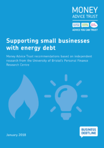 FRONT COVER Supporting Small Businesses with energy debt report and recommendations