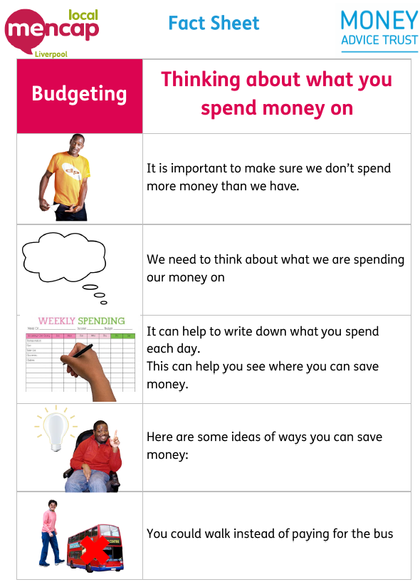 Mencap Liverpool Easy Money - budgeting